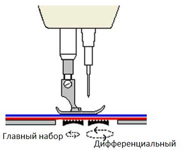 дифференциальный транспортер ткани что это такое